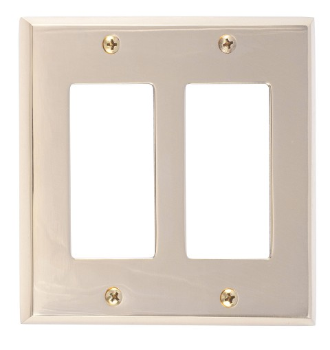 Brass Accents M07-S4570 Quaker Double GFCI, Polished Brass