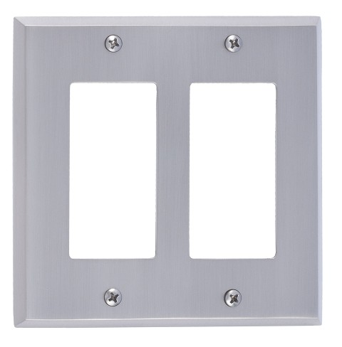 Brass Accents M07-S4570 Quaker Double GFCI, Satin Nickel