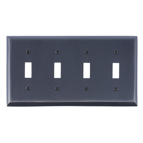 Brass Accents M07-S4591 Quaker Quad Switch, Venetian Bronze