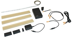 Hafele 833.71.399 Battery Light Kit, One-Door, Loox LED 2030, 12V, Set