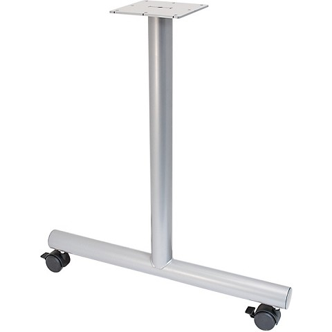 Hafele TLeg Style Side Base With Casters Set - T base table legs