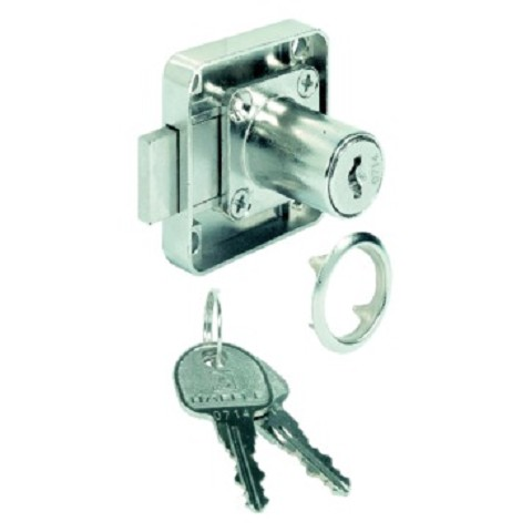 Hafele 232.27.620 Dead Bolt Rim Lock, with Fixed Plate Cylinder