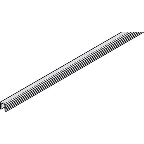 Hafele 405.98.517 Lower Guide Rail, Plastic Gray