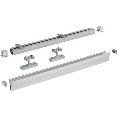 Hafele 942.43.611 Upper Track Dual, Stainless