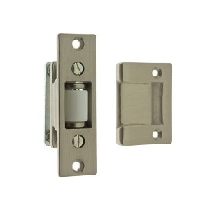 IDH 12017-015 Heavy Duty Silent Roller Latch with Rectangle Strike, Satin Nickel
