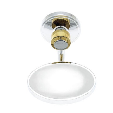 JVJ 23203 Contemporary Series Smooth Soap Dish, Chrome/Brass