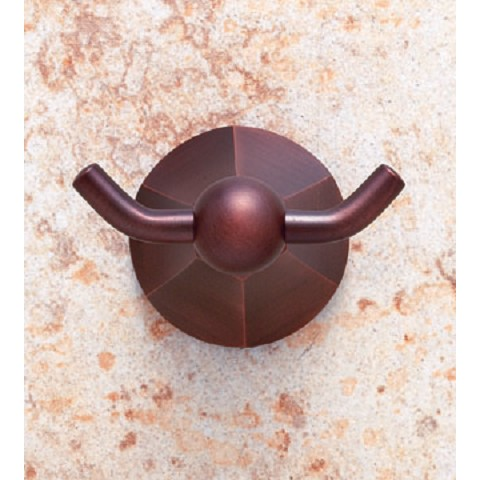 JVJ 25307 Prism Series Double Robe Hook, Old World Bronze