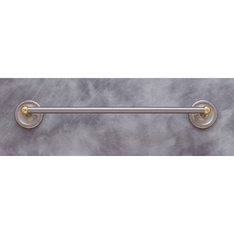 "JVJ 25624 Prestige Series Towel Bar Set 24"", Satin Nickel/Brass"