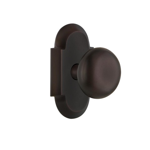 Nostalgic Warehouse 700240 Cottage Plate Passage New York Door Knob, Timeless Bronze
