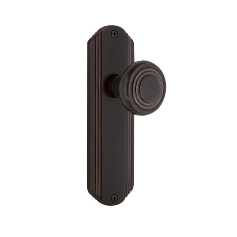 Nostalgic Warehouse 700270 Deco Plate Passage Deco Door Knob, Timeless Bronze