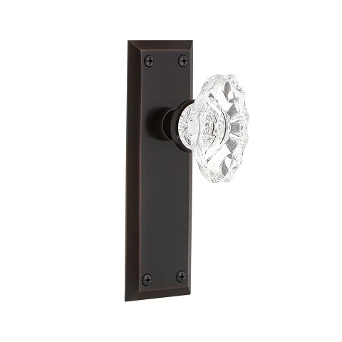 Nostalgic Warehouse 700331 New York Plate Passage Chateau Door Knob, Timeless Bronze