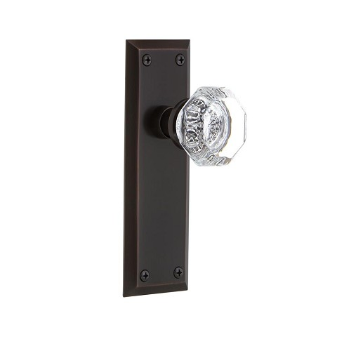 Nostalgic Warehouse 700343 New York Plate Passage Waldorf Door Knob, Timeless Bronze