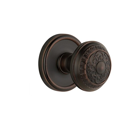Grandeur 821832 Georgetown Plate Double Dummy with Windsor Knob in Timeless Bronze