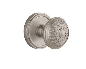 Grandeur 821833 Georgetown Plate Double Dummy with Windsor Knob in Satin Nickel