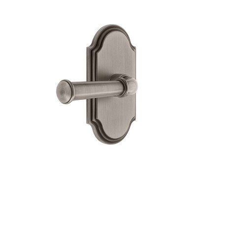 Grandeur 821874 Arc Plate Privacy with Georgetown Lever in Antique Pewter