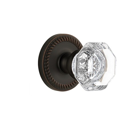 Grandeur 821899 Newport Plate Dummy with Chambord Crystal Knob in Timeless Bronze