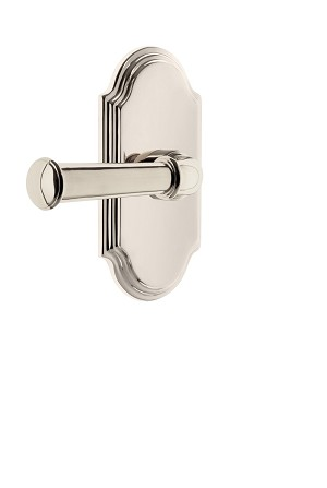 Grandeur 821904 Arc Plate Privacy with Georgetown Lever in Polished Nickel