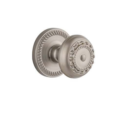 Grandeur 821941 Newport Plate Dummy with Parthenon Knob in Satin Nickel