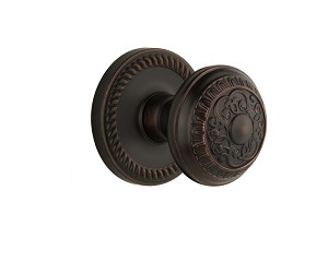 Grandeur 821951 Newport Plate Dummy with Windsor Knob in Timeless Bronze