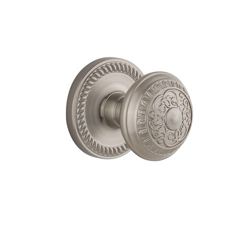 Grandeur 821952 Newport Plate Dummy with Windsor Knob in Satin Nickel