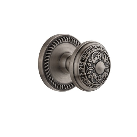 Grandeur 821954 Newport Plate Dummy with Windsor Knob in Antique Pewter