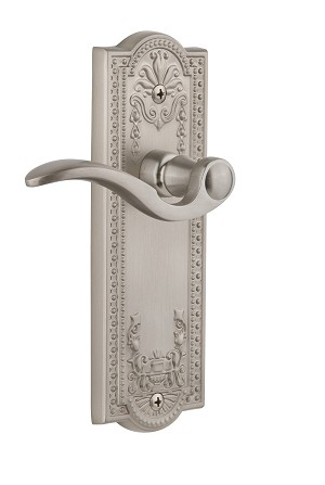 Grandeur 822032 Parthenon Plate Dummy with Bellagio Lever in Satin Nickel