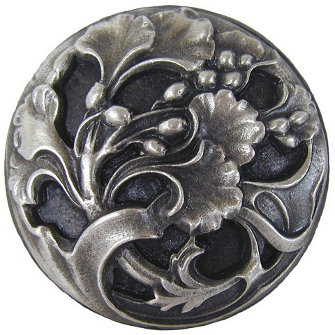 Notting Hill NHK-102-AP Florid Leaves Knob, Antique Pewter