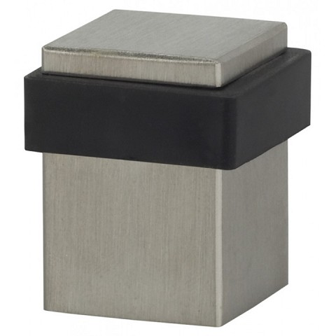 "Omnia 7620.32D Square Modern Floor Stop 1"" x 1-3/8"" Satin Stainless Steel"