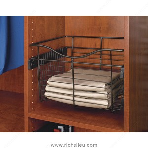 Richelieu CB241411ORB5 Pull-out Wire Basket, Bronze