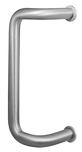 "Rockwood YBF152 Door Pull with Base Plate, 12"" Center to Center, 90 Degrees Offset"